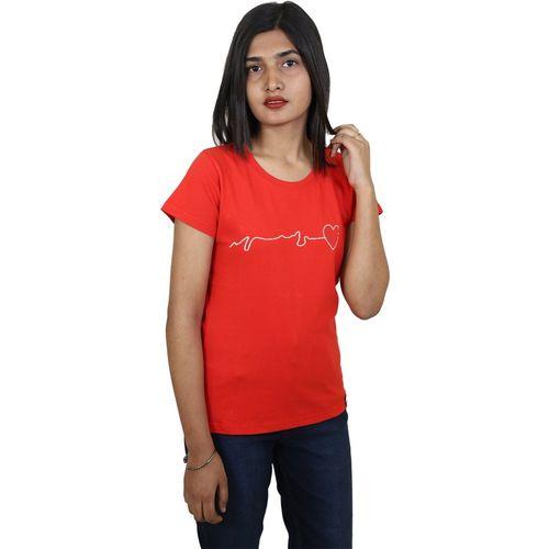 ItkiUtki Graphic Print Women Round Neck Red T-Shirt