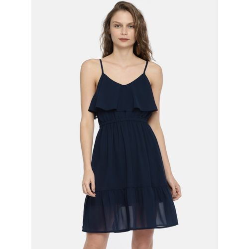Mast & Harbour Women Fit and Flare Dark Blue Dress
