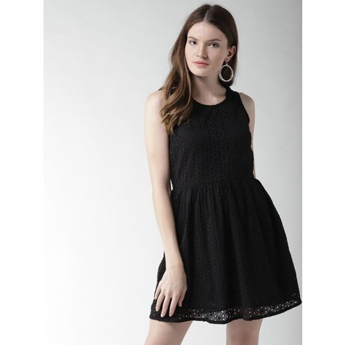 Mast & Harbour Women A-line Black Dress