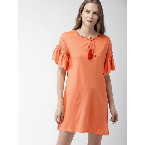 Mast & Harbour Women Shift Orange Dress