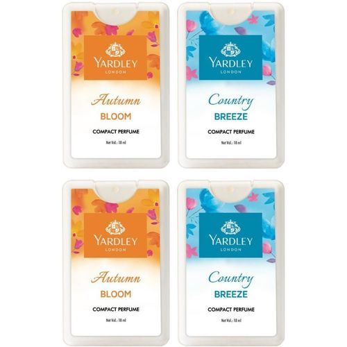 Yardley London Autumn Bloom & Country Breeze Compact Perfume -18ml (Pack of 4) Perfume - 18 ml(For Women)