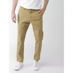 Mast & Harbour Regular Fit Men Brown Trousers