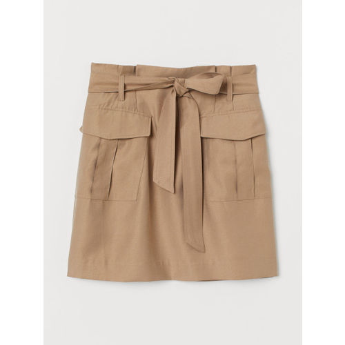 H&M Women Lyocell-Blend Paper Bag Skirt