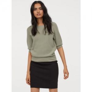 H&M Women Black Solid Short Skirt