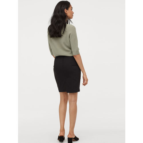 H&M Women Black Solid Short Skirt