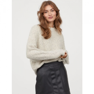 H&M Women Black Solid A-Line Skirt