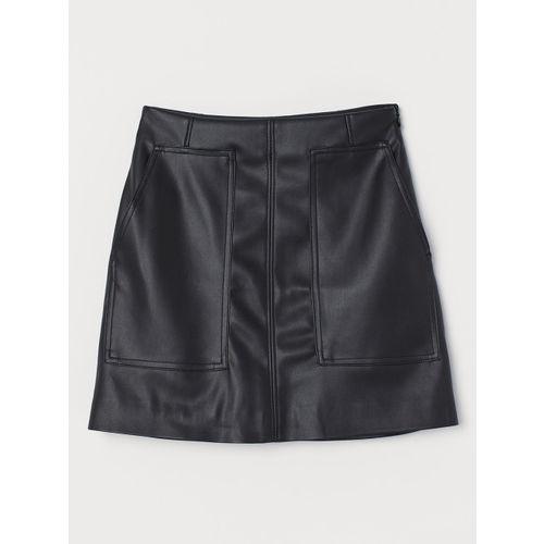 H&M Women Black Solid A-Line Skirt