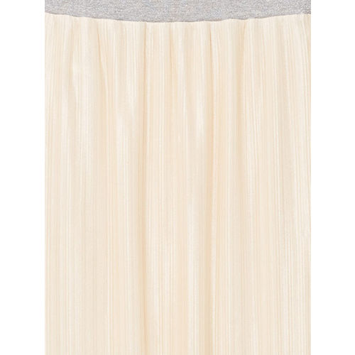 MANGO Cream-Coloured Accordian Pleats Maxi Skirt