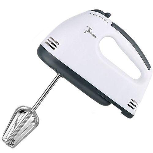 Three Secondz Best 7 Hand Held Mixer Blender Whisk Eggs Mixer Batter Beater 180 Electric Whisk, Stand Mixer, Hand Blender(White)