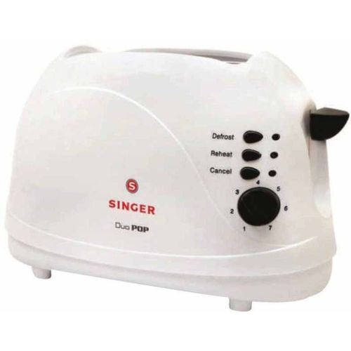 Singer 16652 1100 W Pop Up Toaster(White)