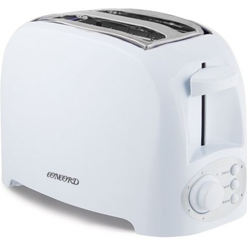 CONCORD (Cool Touch Technology) 750 W Pop Up Toaster(White)