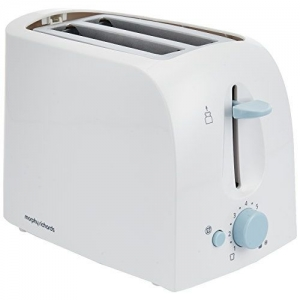 Morphy Richards AT 201 (Toaster) 650 W Pop Up Toaster(White)