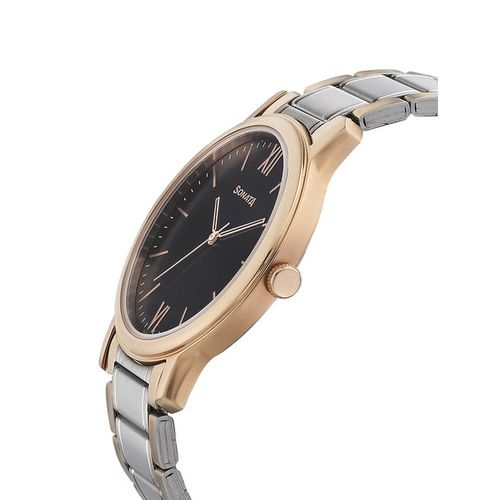 Sonata 7128KM01 Beyond Gold Collection Analog Watch for Men