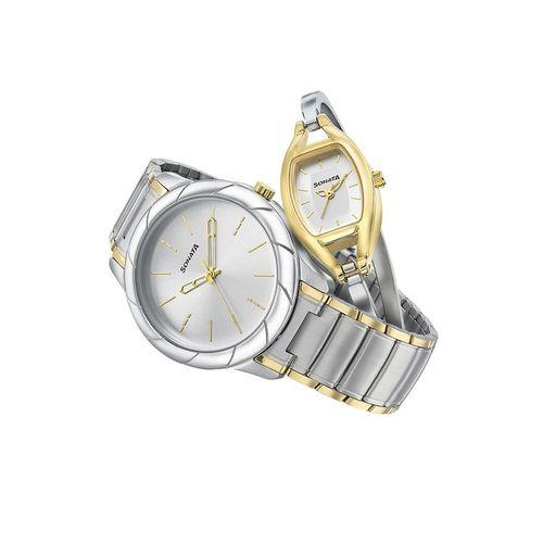 Sonata 71258114BM01 Pairs 2.0 Analog Watch for Couples