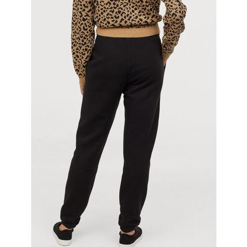 H&M Women Black Solid Sweatpants