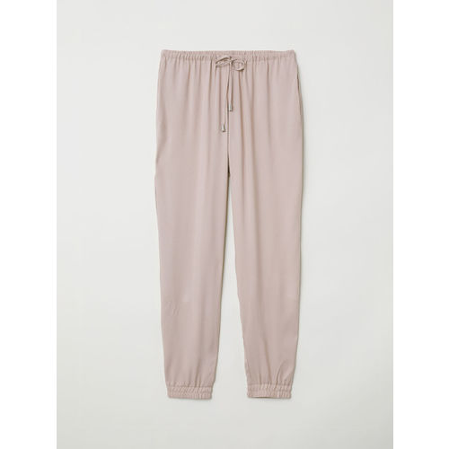 H&M Women Pink Solid Pull-On Trousers