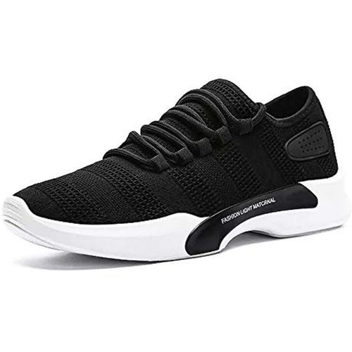 ADDOXY Men's Running Shoes Fashion Breathable Sneakers Mesh Casual Athletic Lightweight Casuals Running Shoes For Men(Black)