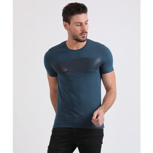Metronaut Blue Cotton Printed Round Neck Regular Fit T-Shirt