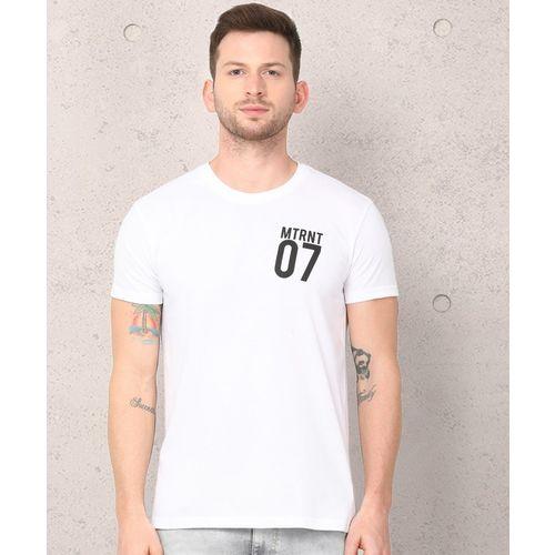 Metronaut White Cotton Printed Regular Fit T-Shirt