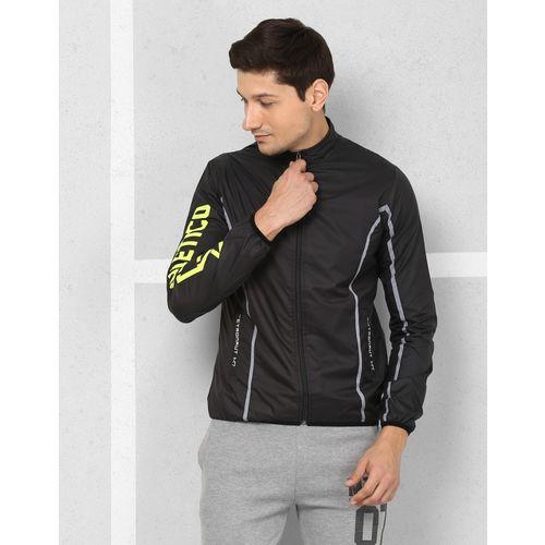 Metronaut Black Cotton Solid Sport Jacket