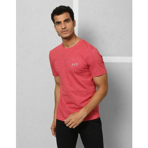 Metronaut Red Cotton Solid Round Neck T-Shirt