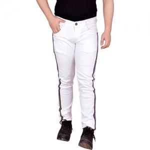 TERRITORY Slim Men White Jeans