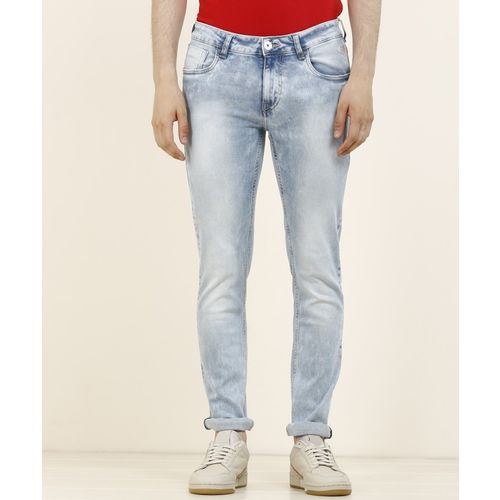 Flying Machine Tapered Fit Men Light Blue Jeans
