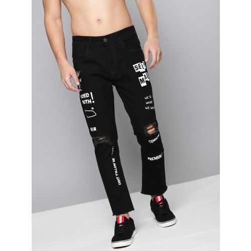 Kook N Keech Skinny Men Black Jeans