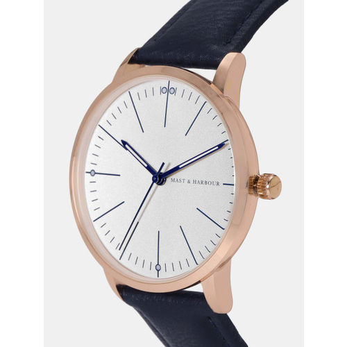 Mast & Harbour Unisex Off-White Analogue Watch MFB-PN-WTH-8043G