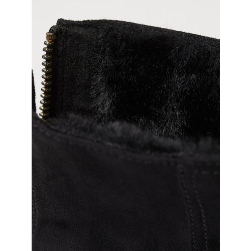 H&M Women Pile-Lined Ankle Boots