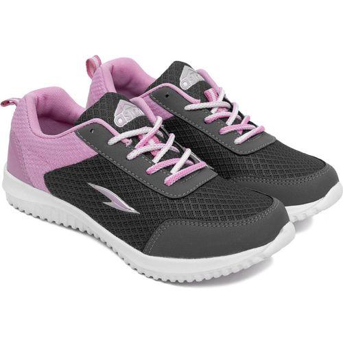 Asian Googly-01 Grey Pink Sports Shoes,Laceup Shoes,Gym Shoes,Casual Shoes, Running Shoes For Women(Grey, Pink)
