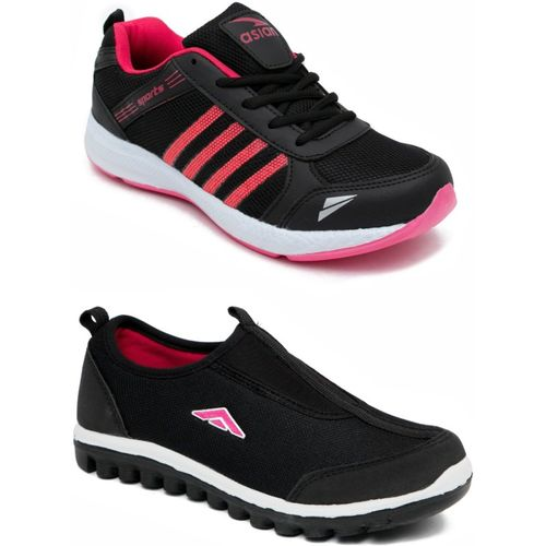 Asian PINK::PINK Casual Shoes,Running Shoe,Walking Shoes,Loafres,Sneakers,Training Shoes. Casuals For Women(Black)