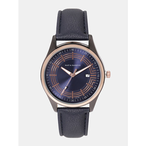 Mast & Harbour Unisex Navy Analogue Watch MFB-PN-SNT-G31