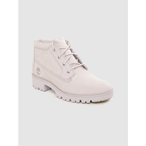 Timberland Women Lavneder Nubuck Leather Mid-Top Lite Nelie Chukka Boots