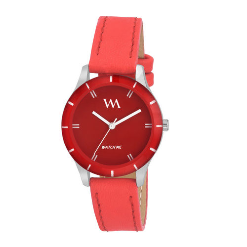 WM Women Red Analogue Watch WMAL-211zx