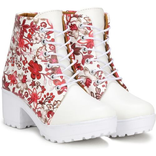 FASHIMO Boots For Women(Red)