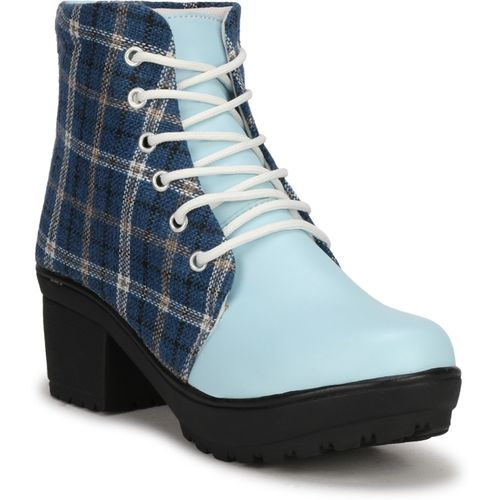 FASHIMO Boots For Women(Blue)