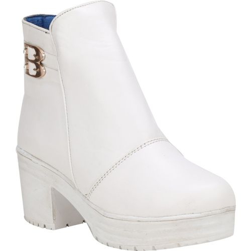 QUICK STEP PR5-WHITE-41 Boots For Women(White)