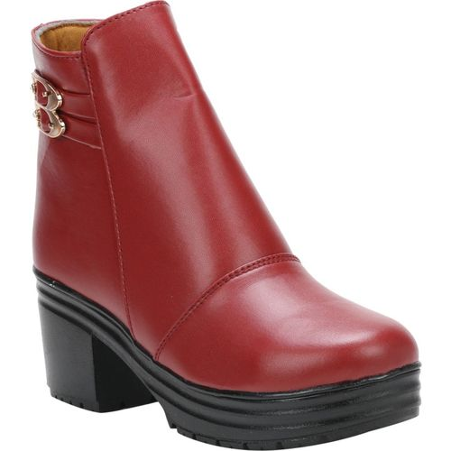 QUICK STEP PR5-MAROON-40 Boots For Women(Maroon)