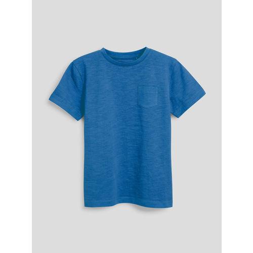 next Boys Blue Solid Round Neck T-shirt