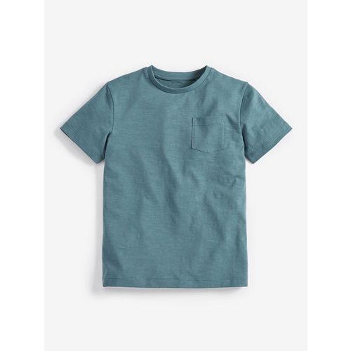 next Boys Green Solid Round Neck T-shirt