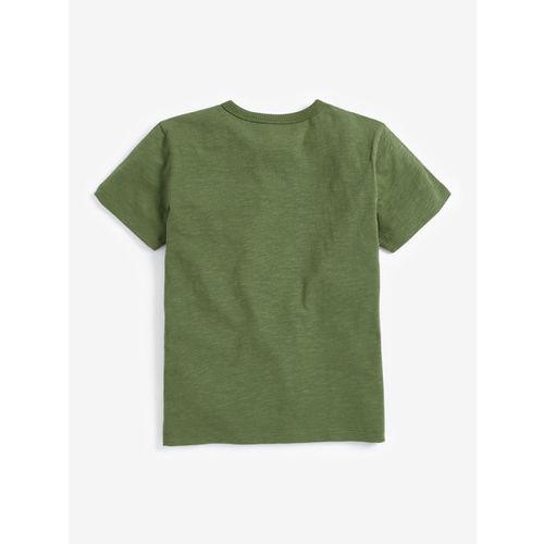 next Boys Green Printed Round Neck T-shirt