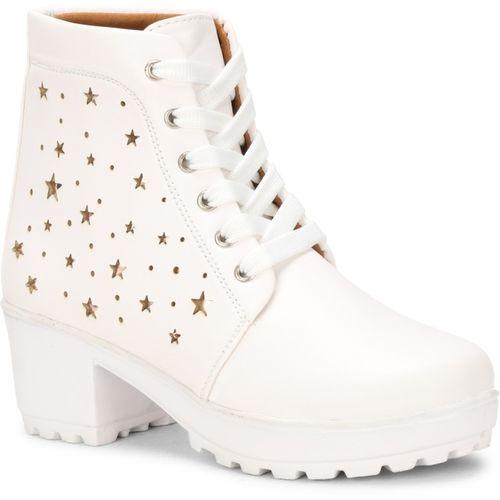 Zovim Stylish Boots For Women(White)