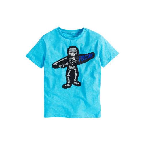 next Boys Blue Printed Round Neck T-shirt