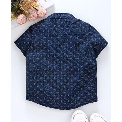 Babyhug Half Sleeves Shirt Abstract Print - Navy Blue
