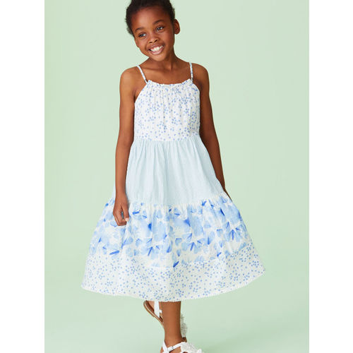 next Girls Blue Fit and Flare Dress