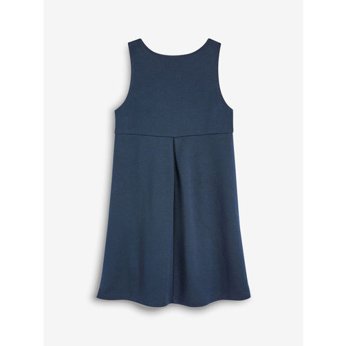 next Girls Navy Blue Solid Empire Dress