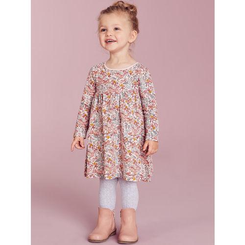 next Girls Pink & Brown Printed T-shirt Dress