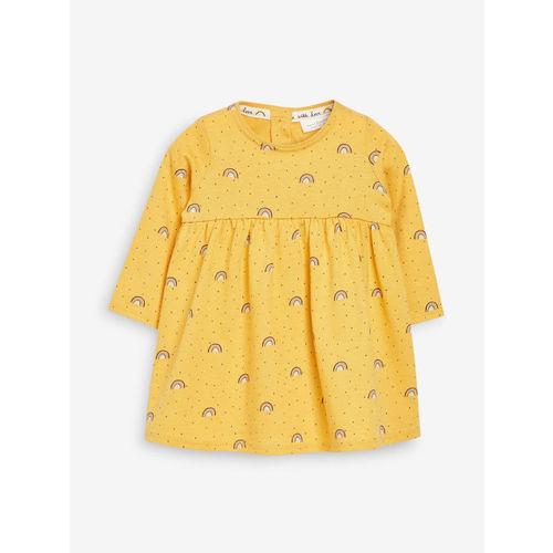 next Girls Mustard T-shirt Dress