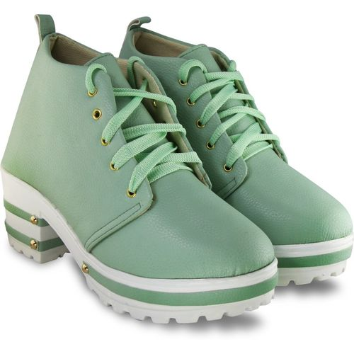 Elegandra Boots For Women(Green)